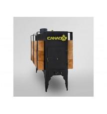 Буржуйка Canada длительного горения с теплоаккумулятором
