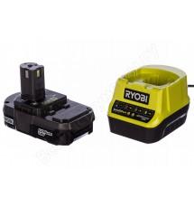 Зарядное устройство Ryobi RC18120-113 + аккумулятор 18В, 1,3 А/ч