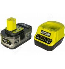 Зарядное устройство Ryobi RC18120-140 + аккумулятор 18В, 4,0 А/ч