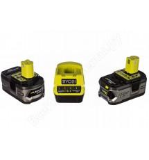 Зарядное устройство Ryobi RC18120-240 + 2 аккумулятора 18В, 4,0 А/ч