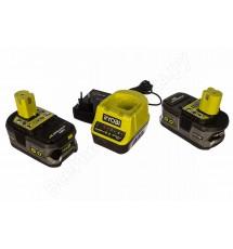 Зарядное устройство Ryobi RC18120-250 + 2 аккумулятора 18В, 5,0 А/ч
