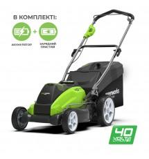 Газонокосилка аккумуляторная Greenworks G40LM45K4
