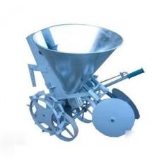 Картофелесажалка мотоблочная Фермер ЯКС-1/2 (оцинкованная, транспортировочные колеса,бункер для удобрения)