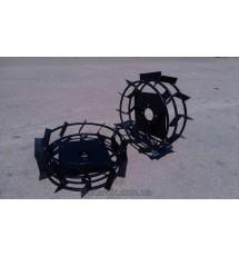 Колеса с грунтозацепами на мотоблок Кентавр 2060-2090 ? 450х150 (квадрат)