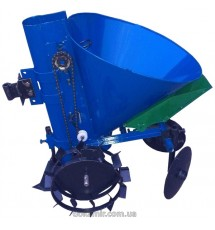 Картофелесажалка мотоблочная с бункером для удобрений Кентавр КСМ-1ЦУ (синий)