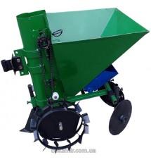 Картофелесажалка мотоблочная с бункером для удобрений П-1ЦУ (зеленый)
