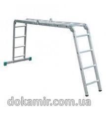 Лестница шарнирная Forte АО52-404 4*4сх., длина 4,67/1,26 м., вес 15,5 кг.
