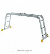 Лестница шарнирная Forte 4*3сх., длина 3,55/0,98 м., вес 14кг.